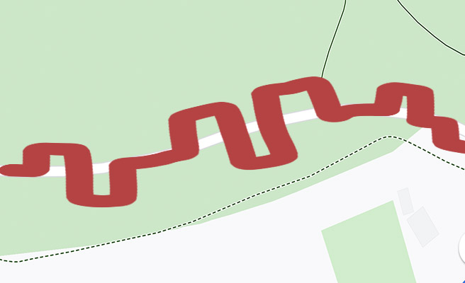 A meandering Strava feed